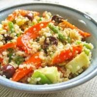 Salade de quinoa et légumes vapeur